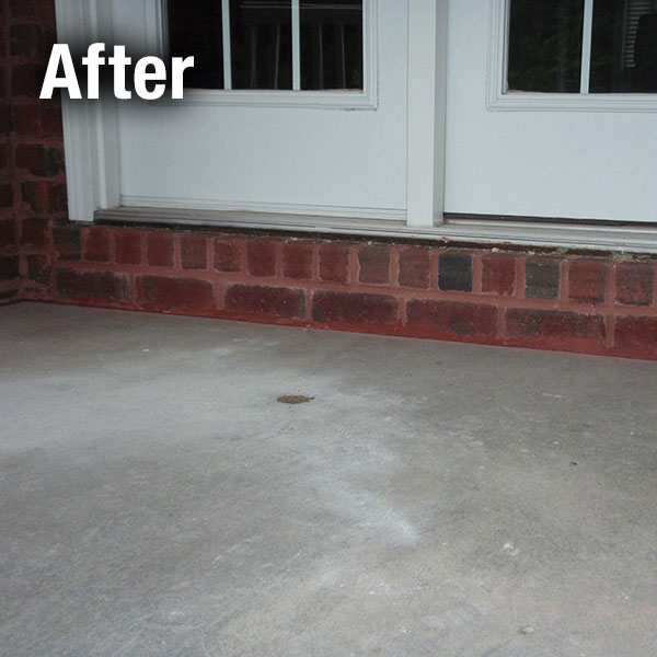 Charleston Concrete Porch Leveling - After