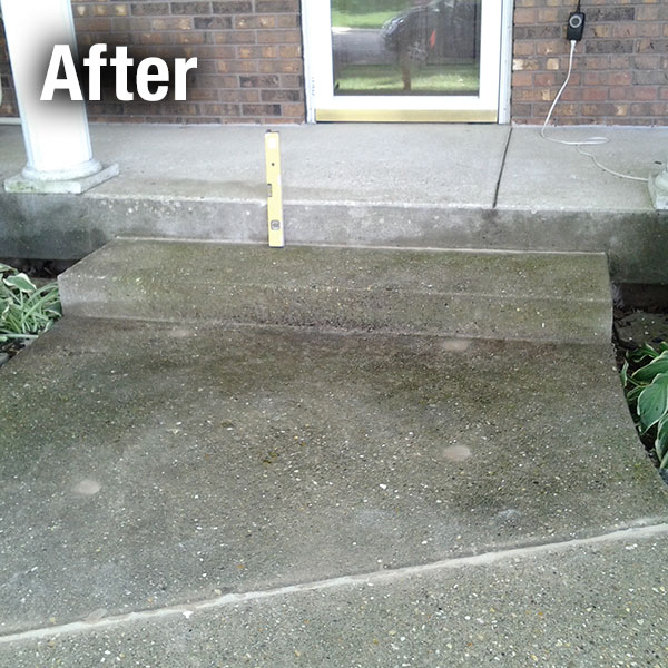 Charleston​ Concrete Steps Leveling - After