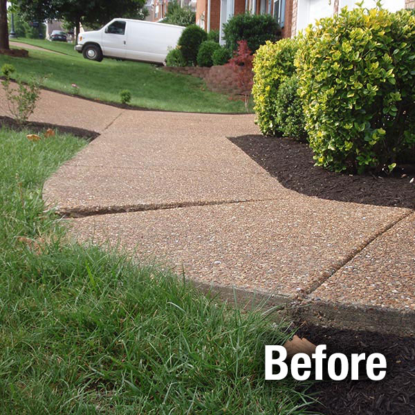 Charleston Concrete Sidewalk Leveling - Before
