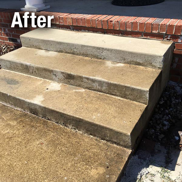 Charleston Concrete Steps Leveling - After