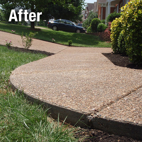 Charleston Concrete Sidewalk Leveling - After